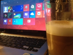 ASUS Vivobook X202E (with a Chai Latte)