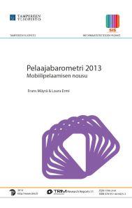 Pelaajabarometri 2013