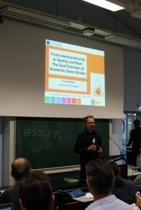 Frans Mäyrä, presenting the Utrecht keynote