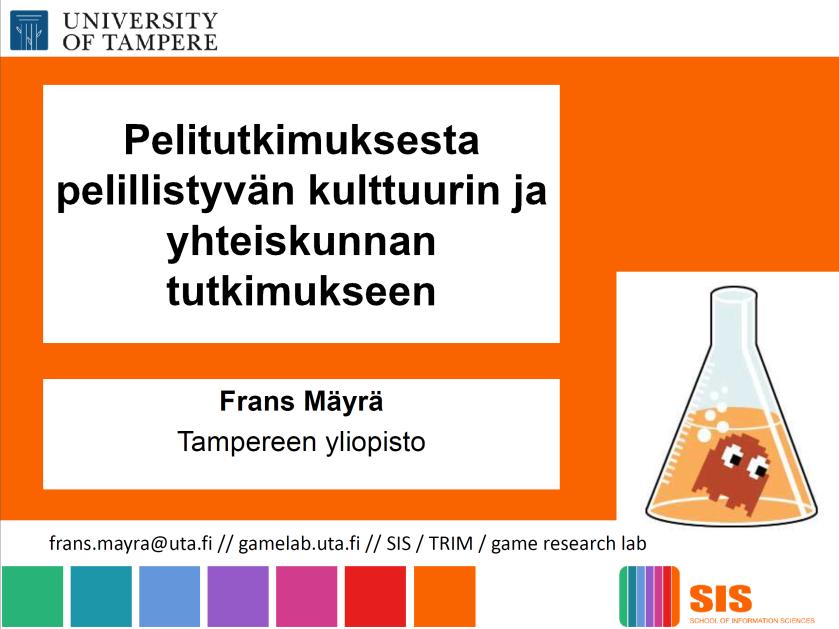 Frans Mäyrä, Vaasa Game Day -luento