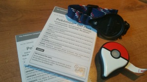 Pokémon GO Plus package contents.