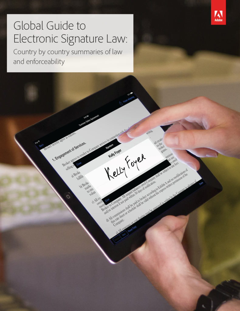 Adobe Global Guide to Electronic Signature Law