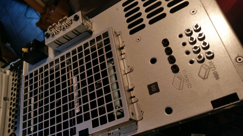 HP Proliant ML110 G5, opened